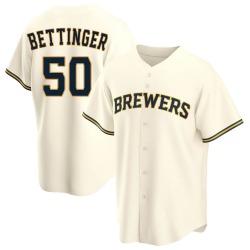 Alec Bettinger Milwaukee Brewers Men's Replica Home Jersey - Cream