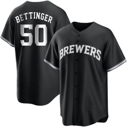 Alec Bettinger Milwaukee Brewers Youth Replica Black/ Jersey - White