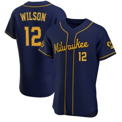 Alex Wilson Milwaukee Brewers Men's Authentic Alternate Jersey - Navy
