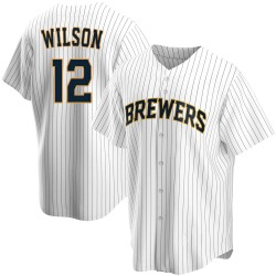 Alex Wilson Milwaukee Brewers Youth Replica Home Jersey - White