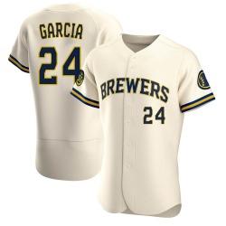 Avisail Garcia Milwaukee Brewers Men's Authentic Home Jersey - Cream