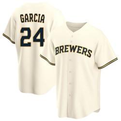 Avisail Garcia Milwaukee Brewers Youth Replica Home Jersey - Cream
