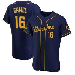 Ben Gamel Milwaukee Brewers Men's Game Alternate Authentic Jersey - Navy