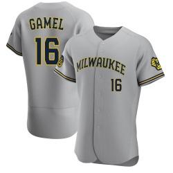 Ben Gamel Milwaukee Brewers Men's Game Road Authentic Jersey - Gray