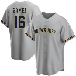 Ben Gamel Milwaukee Brewers Men's Game Road Replica Jersey - Gray