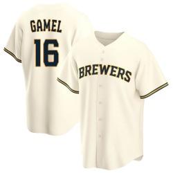 Ben Gamel Milwaukee Brewers Youth Game Home Replica Jersey - Cream