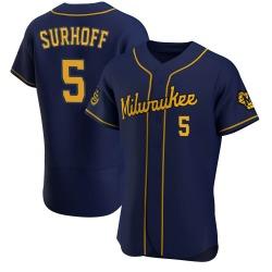 Bj Surhoff Milwaukee Brewers Men's Authentic Alternate Jersey - Navy