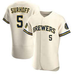 Bj Surhoff Milwaukee Brewers Men's Authentic Home Jersey - Cream