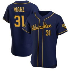 Bobby Wahl Milwaukee Brewers Men's Authentic Alternate Jersey - Navy