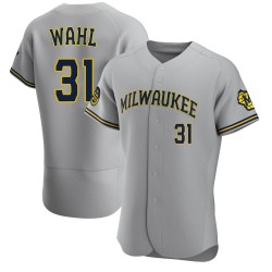 Bobby Wahl Milwaukee Brewers Men's Authentic Road Jersey - Gray
