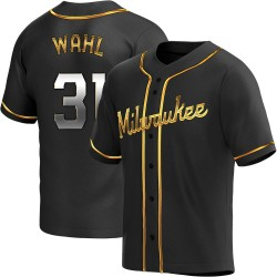 Bobby Wahl Milwaukee Brewers Men's Replica Alternate Jersey - Black Golden