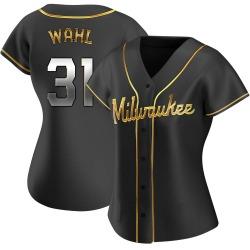 Bobby Wahl Milwaukee Brewers Women's Replica Alternate Jersey - Black Golden