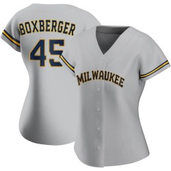 Brad Boxberger Milwaukee Brewers Women's Authentic Road Jersey - Gray