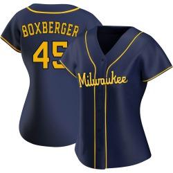 Brad Boxberger Milwaukee Brewers Women's Replica Alternate Jersey - Navy