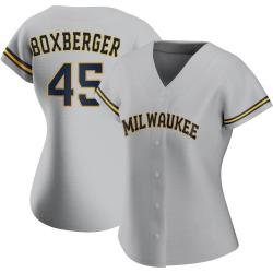 Brad Boxberger Milwaukee Brewers Women's Replica Road Jersey - Gray