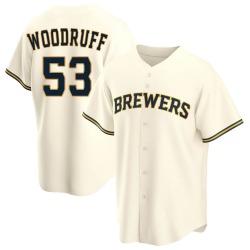 Brandon Woodruff Milwaukee Brewers Men's Replica Home Jersey - Cream