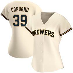Chris Capuano Milwaukee Brewers Women's Replica Home Jersey - Cream
