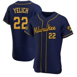 Christian Yelich Milwaukee Brewers Men's Authentic Alternate Jersey - Navy