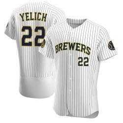 Christian Yelich Milwaukee Brewers Men's Authentic Alternate Jersey - White