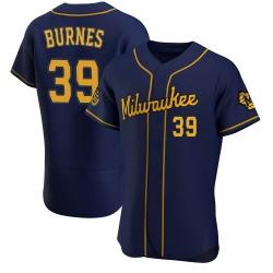 Corbin Burnes Milwaukee Brewers Men's Authentic Alternate Jersey - Navy