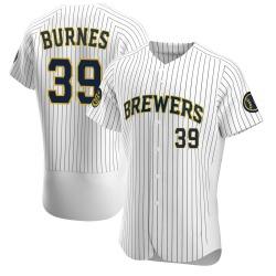 Corbin Burnes Milwaukee Brewers Men's Authentic Alternate Jersey - White