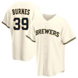Corbin Burnes Milwaukee Brewers Men's Replica Home Jersey - Cream