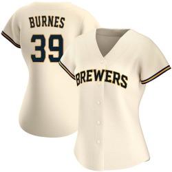 Corbin Burnes Milwaukee Brewers Women's Authentic Home Jersey - Cream