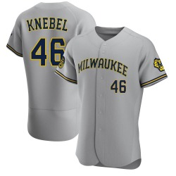 Corey Knebel Milwaukee Brewers Men's Authentic Road Jersey - Gray