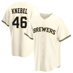 Corey Knebel Milwaukee Brewers Men's Replica Home Jersey - Cream