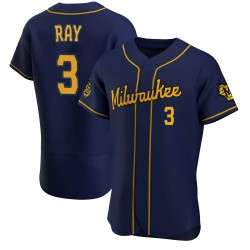 Corey Ray Milwaukee Brewers Men's Authentic Alternate Jersey - Navy