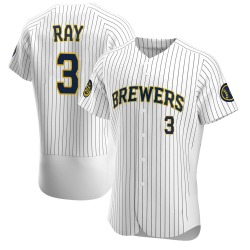 Corey Ray Milwaukee Brewers Men's Authentic Alternate Jersey - White