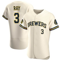Corey Ray Milwaukee Brewers Men's Authentic Home Jersey - Cream