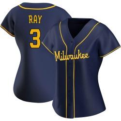 Corey Ray Milwaukee Brewers Women's Replica Alternate Jersey - Navy
