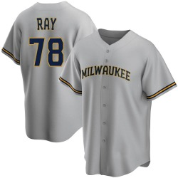 Corey Ray Milwaukee Brewers Youth Replica Road Jersey - Gray