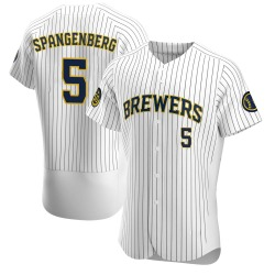 Cory Spangenberg Milwaukee Brewers Men's Authentic Alternate Jersey - White
