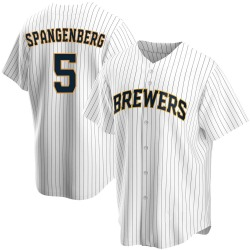 Cory Spangenberg Milwaukee Brewers Men's Replica Home Jersey - White