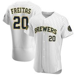 David Freitas Milwaukee Brewers Men's Authentic Alternate Jersey - White