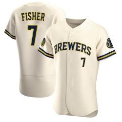 Derek Fisher Milwaukee Brewers Men's Authentic Home Jersey - Cream