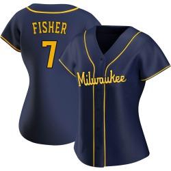 Derek Fisher Milwaukee Brewers Women's Replica Alternate Jersey - Navy