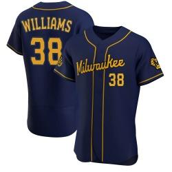 Devin Williams Milwaukee Brewers Men's Authentic Alternate Jersey - Navy