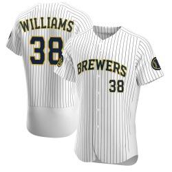 Devin Williams Milwaukee Brewers Men's Authentic Alternate Jersey - White