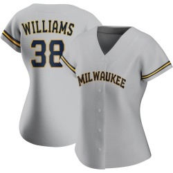 Devin Williams Milwaukee Brewers Women's Authentic Road Jersey - Gray