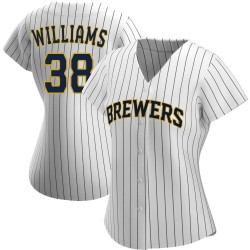 Devin Williams Milwaukee Brewers Women's Replica /Navy Alternate Jersey - White