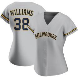 Devin Williams Milwaukee Brewers Women's Replica Road Jersey - Gray