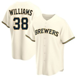 Devin Williams Milwaukee Brewers Youth Replica Home Jersey - Cream