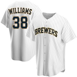 Devin Williams Milwaukee Brewers Youth Replica Home Jersey - White