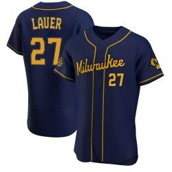 Eric Lauer Milwaukee Brewers Men's Authentic Alternate Jersey - Navy
