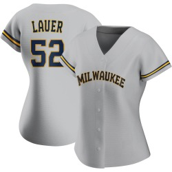 Eric Lauer Milwaukee Brewers Women's Authentic Road Jersey - Gray