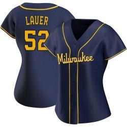 Eric Lauer Milwaukee Brewers Women's Replica Alternate Jersey - Navy