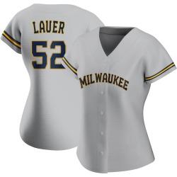 Eric Lauer Milwaukee Brewers Women's Replica Road Jersey - Gray